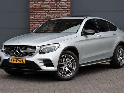 tweedehands Mercedes 250 GLC Coupé4-MATIC Prestige AMG Aut9, Navigatie, Camera, Έlectric. trekhaak, Schuif/kanteldak Glas, LED ILS,, Sfeerverlichting, Nightpakket, Stoelverwarming, Parkeerassistent, Etc.