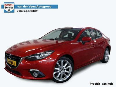 tweedehands Mazda 3 2.0 GT-M | 120 pk | Navigatie | Bose | Vol leder | Stoelverwarming | Cruise | Bi-Xenon | Head-up | Parkeersensoren | 18'' lm |
