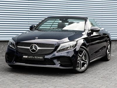 tweedehands Mercedes 200 C-KLASSE CabrioletAMG Line, NL-auto, 1e eig, dealeroh, Burmester, keyless, 360°, DAB, 18''