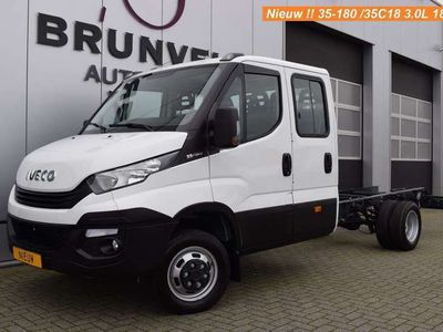 tweedehands Iveco Daily 35C18 3.0 180pk Euro 6, Chassis Dubbele Cabine, Ai