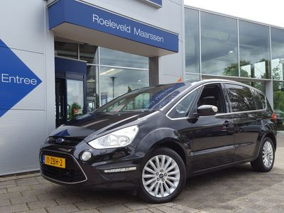 tweedehands Ford S-MAX 1.6 ECOBOOST 160PK LEASE TITANIUM 5-PERSOONS | NAVI | XENON | PANORAMA | LEDER-ALCANTARA+SPORTSTOEL+ELEK.VERSTEL | PDC V+A | PRIVACY GLASS | CLIMA | CRUISE | 17''LM
