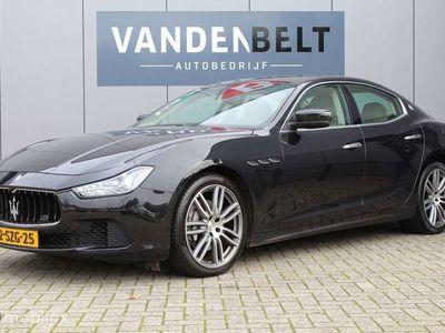 tweedehands Maserati Ghibli 3.0 V6 D Xenon Leer Navi Org NL Auto ! Nieuwe band