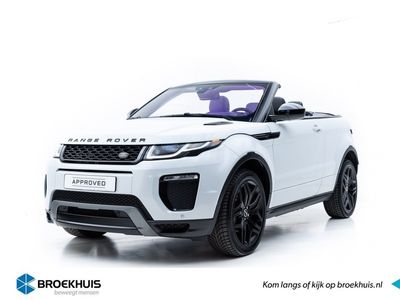 tweedehands Land Rover Range Rover evoque Convertible 2.0 TD4 180PK HSE Head-Up, Black Pack, 20 inch Gloss Black