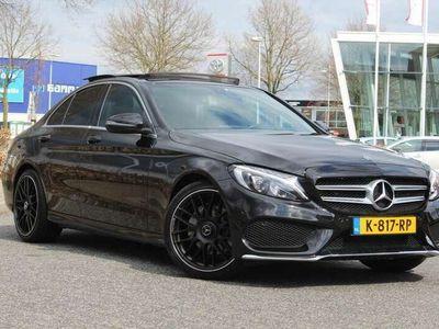 "tweedehands Mercedes C220 CDI AMG Sedan Automaat Pano Xenon Led Navi 19"""