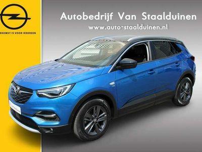 tweedehands Opel Grandland X 1.2 Turbo 120 Jaar Edition Zwart dak| Zwarte Velgen| Navigatie| LED Koplampen| Camera| Dakrails