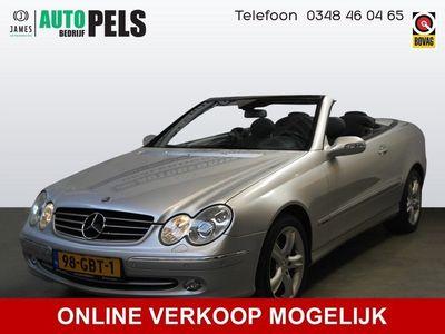 tweedehands Mercedes 240 CLK-KLASSE CabrioletELEGANCE 6 Cil AUTOMAAT, AIRCO, LEER,ENZ. PRIJS RIJKLAAR INCL 6 MND BOVAG.