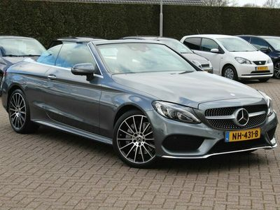 tweedehands Mercedes 400 C-KLASSE Cabriolet4MATIC Ambition AMG / Rondom camera / Designo / Head-up display / Dodehoek / Nekverwarming
