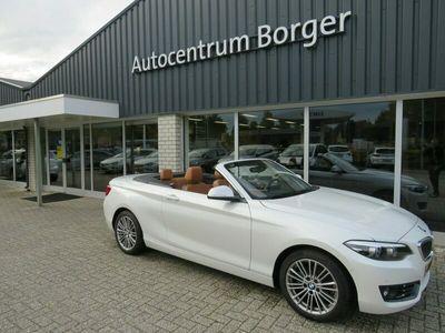 """tweedehands BMW 218 2-SERIE Cabrio i automaat High Exec. Navi/Leder /17""""LM/camera"""