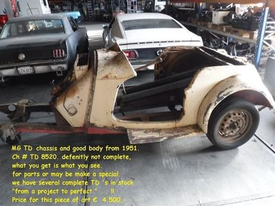 tweedehands MG TD -car for parts