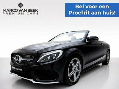 tweedehands Mercedes 180 C-KLASSE CabrioletPremium Plus AMG Nw. Prijs €68.273 LED Cruise Navi