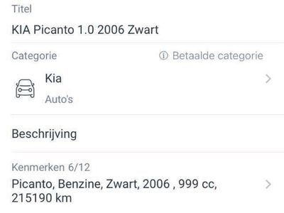 tweedehands Kia Picanto 1.0 Colori