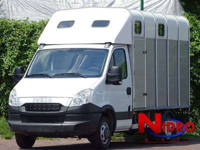 tweedehands Iveco Daily Horse truck IFOR WILLIAMS Camera Airco