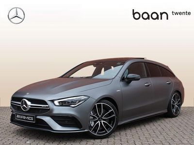 tweedehands Mercedes CLA35 AMG Cla Shooting Brake4-Matic Premium Plus / Nightpakket / Panoramadak / Memory / Burmester