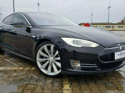 używany Tesla Model S S 60, OKAZJA, Jasna skóra, zawieszenie pneumatyczne, Gwarancja