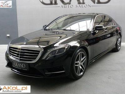 używany Mercedes S500 4.7dm3 455KM 2014r. 29 000km 4Matic AMG Long Burmester 3D Full FV23%