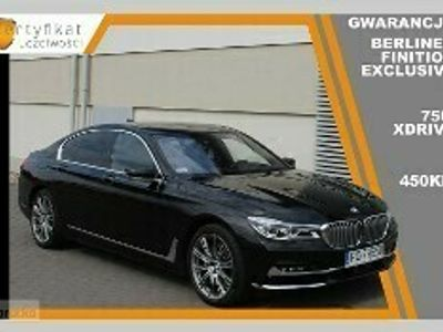 używany BMW 750 SERIA 7 750 i XDRIVE Berliner Finition Exclusive, gwarancja, bogate wypos