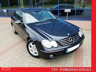 używany Mercedes CLK240 2.6dm 170KM 2003r. 152 000km