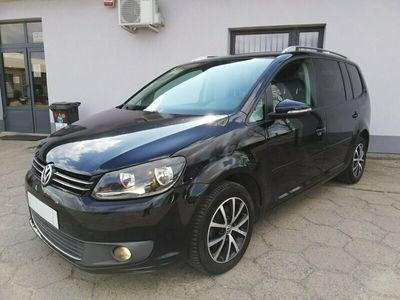 używany VW Touran II 1.6 TDI CR 105 KM - dsg automat - klima - alusy - czarny -