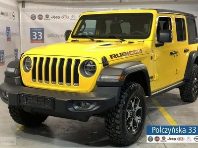 używany Jeep Wrangler 2.0dm3 265KM 2018r. 2km JL Unlimited Rubicon 2.0 265KM Benzyna   NOWY MODEL   Zółty Hellayella