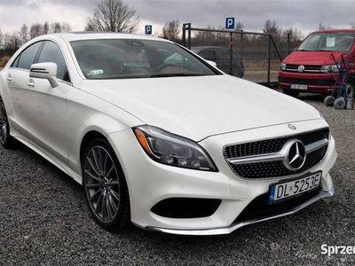 używany Mercedes CLS400 333KM 3.5 V6 2015r. 61tys. km. Navi, brązowe skóry, LED, Wrocław
