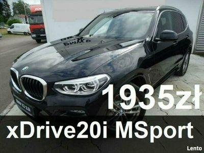 używany BMW X3 xDrive20i 2,0 MSport Live Cockpit Plus Dostęp komfortowy Rata 1935zł G01 (2017-)