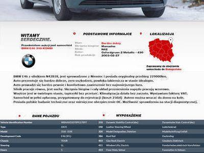 używany BMW 316 E46 I kombi lift opłacony FVAT