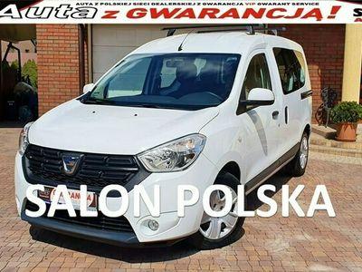 używany Dacia Dokker TYLKO 28 tys km 1.6SCE 102KM, Laureate, Salon PL Serwis ASO, F.VAT23%,