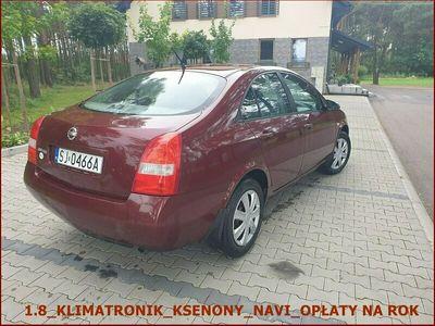 używany Nissan Primera 2003 r_1.8_Klimatronik_NAVI_Zero Korozji_Opłaty na Rok_Ksenony P12 (2001-2007)