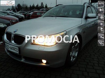używany BMW 525 2.5dm3 163KM 2006r. 255 000km wzorowy stan diasel turing ABS automatyczna klima.