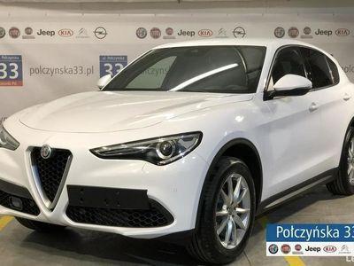 używany Alfa Romeo Stelvio Executive 2.0 280KM | Biały pastelowy / Brązowa skóra | 2019