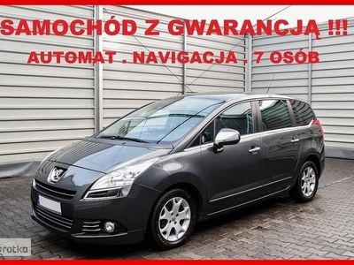 używany Peugeot 5008 AUTOMAT + 7 osób + Navigacja + SKÓRA + GWARANCJA !!!