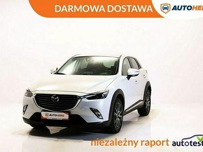 używany Mazda CX-3 DARMOWA DOSTAWA, Serwis ASO, Skóra, 1 Własciciel, Navi, Skóra