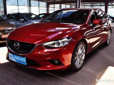 używany Mazda 6 2.0 165KM, 1 rej. 12.2014, Navi, Skóra, Martwe Pole, Biksenon III (2012-)