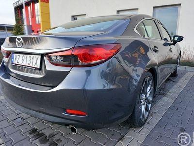 używany Mazda 6 2.5 benzyna 192KM, grafit metalik, koła 19, pełna skóra, kamera