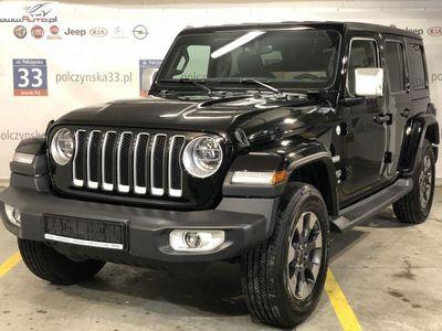 używany Jeep Wrangler 2dm3 265KM 2019r. 2km JL Unlimited Sahara 2.0 265KM | Czarny - SOLID BLACK | Pakiet Overland