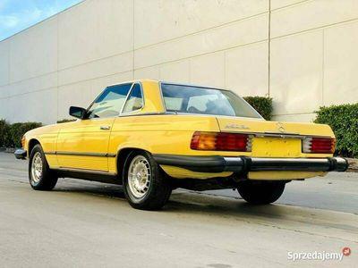 używany Mercedes SL450 SL 450 -BENZ1978 YELLOW 8 CYLINDER BENZ. 241KM 104651KM R107 (1972-1989)