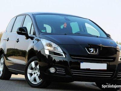 używany Peugeot 5008 1.6dm3 156KM 2009r. 116 725km 156KM Panorama Dach Klimatronik Premium Czarny z Niemiec