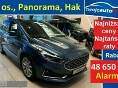 używany Ford S-MAX 2.0 EcoBlue 190 KM, A8, FWD Vignale 5D 7os. Hak, Panorama, Blis, ACC