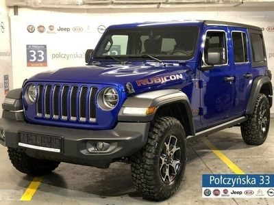 używany Jeep Wrangler 2.0dm3 265KM 2018r. 2km JL Unlimited Rubicon 2.0 265KM | NOWY MODEL | Granatowy - OCEAN BLUE
