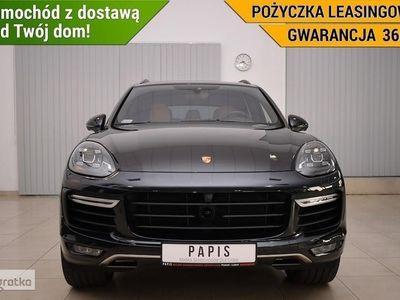 używany Porsche Cayenne Turbo II SalonPL 1Wł ASO PDLS Nawi Climatronic Panorama Keyless PAPIS