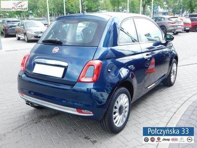 used Fiat 500 1.2dm3 69KM 2018r. 5km 1.2 Lounge 69KM |niebieski | Rata od 655 PLN w abonamencie