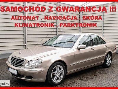 używany Mercedes 320 Klasa S W220IDEAŁ + Aktywny Tempomat + Navigacja + Skóra + Xenon + Serwis !!