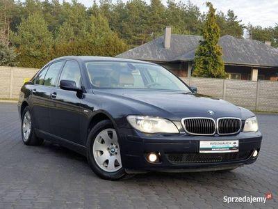 używany BMW 750 seria 7 4.8dm3 367KM 2006r. 253 000km i 4,8v8 367KM Navi Serwisowany Kremowe skóry Shadow Line