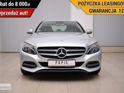 używany Mercedes 200 Klasa C W205SalonPL ASO Avantgarde Climatronic FullLED Parktronic Tempomat P, Luboń