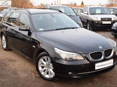 używany BMW 520 2dm3 177KM 2007r. 260 000km Xenony_Nawigacja_Czujniki parkowania_Podgrzewane fotele_Alusy_Relingi_