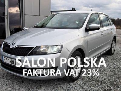 używany Skoda Rapid 1.6TDI 115KM 2015r. PL Salon, serwis ASO, Xenon, Klimatyzacja, FV23%