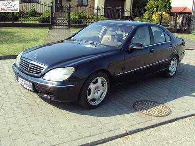 używany Mercedes 350 klasa S 4.0dm3 250KM 2000r.000km ABS automatyczna klima.