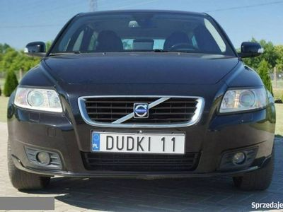używany Volvo V50 II 1,6d DUDKI 11 navi,skory,klimatr,temp,elektr,radio,parktr,hak,alu,GW