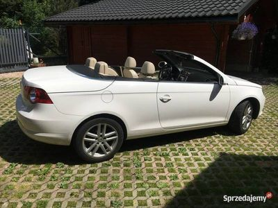 używany VW Eos kabriolet - 2.0 - 200KM - biały, skóra beżowa