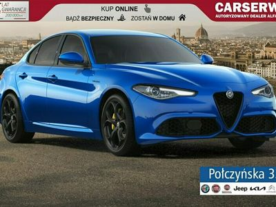 używany Alfa Romeo Giulia Veloce Q4 AT 2.0 280 KM | Niebieski Blue Misano | Czarna skóra| RP20